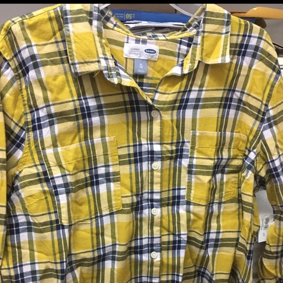 Plaid shirt XL yellow combo NWT back to campus NWT